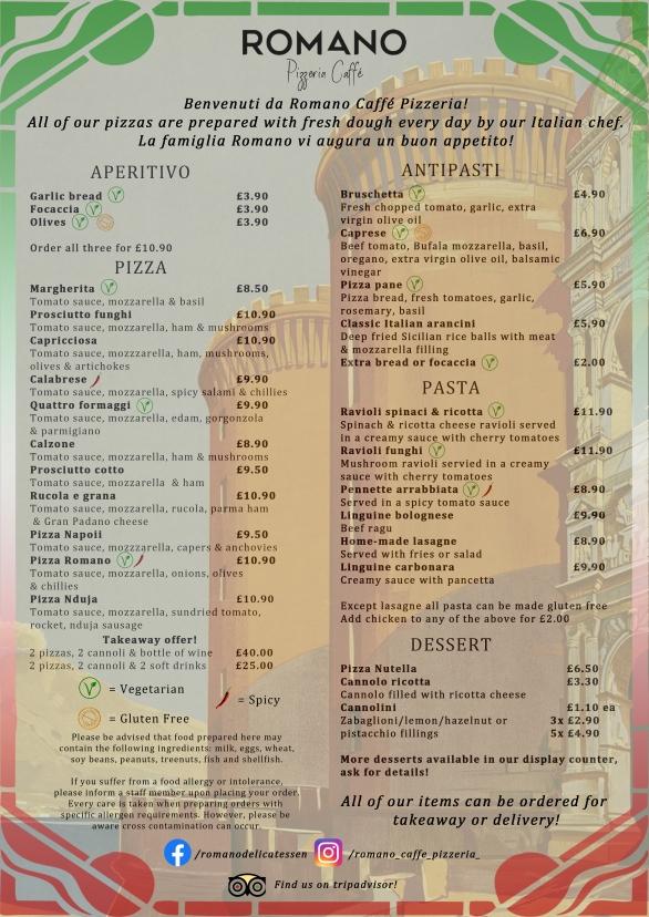 Romano Pizzeria Page 1